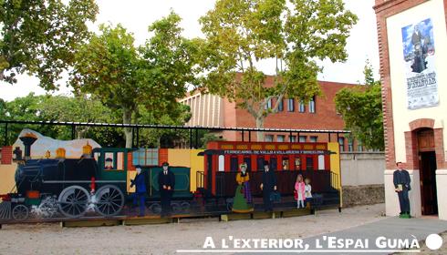 A l'exterior, l'Espai Gumà - Museu del Ferrocarril de Catalunya
