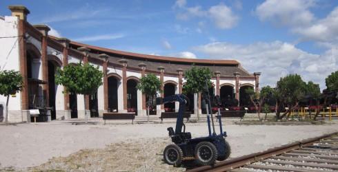 El Robot Aquiles visita el Museu del Ferrocarril