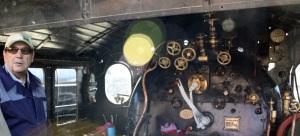 Tubize: Vista de la Cabina i detall de manòmetre