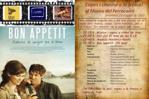 Cartell de la sessió de Copes i Cinema del proper 23 d'agost