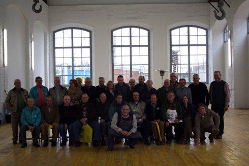 Imatge del grup de Voluntaris amb l'equip del Museu