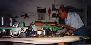 El Sr. Fonollosa al seu taller