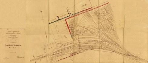 Planell dels terrenys ferroviaris de Vilanova i la Geltrú, aprox. de la dècada de 1920