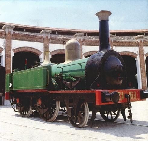 La locomotora dins les instal·lacions del Museu