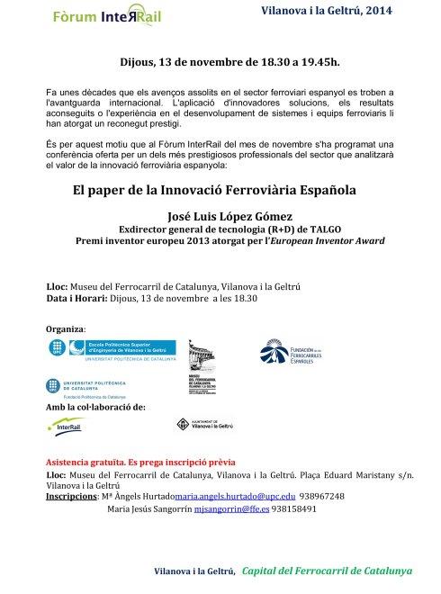 Forum InteRail 13 NOVEMBRE