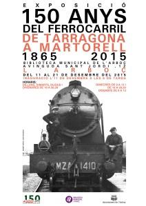 Cartell exposició150 anys ferrocarril L'Arboç.psd