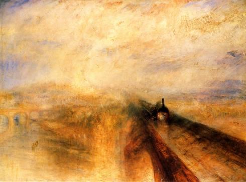 Imatge del tren en marxa J.M.W. Turner